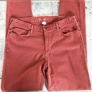 Eddie Bauer Slightly Curvy Red Jeans- Size 12 Tall